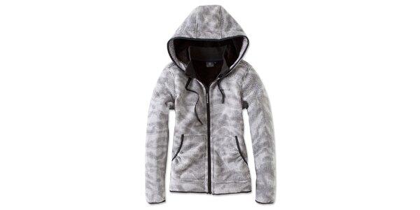 Dámska čierno-bielo kockovaná fleecová bunda Brunotti