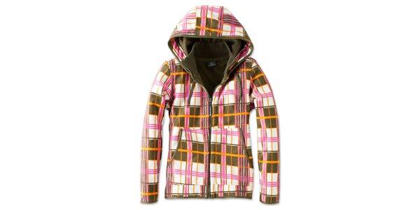 Dámska farebne kockovaná fleecová bunda Brunotti