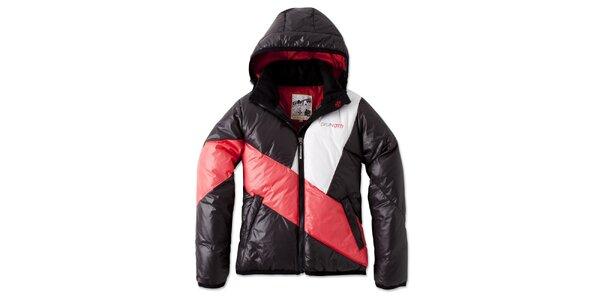 Dámska čierno-červená bunda s bielym pruhom Brunotti