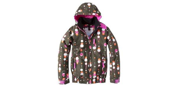 Dámska zimná bunda s farebnou potlačou Brunotti