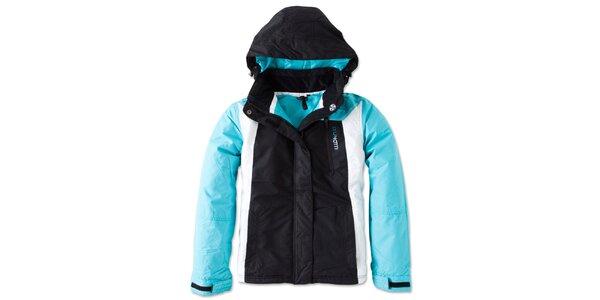 Dámska čierno-tyrkysová zimná bunda Brunotti