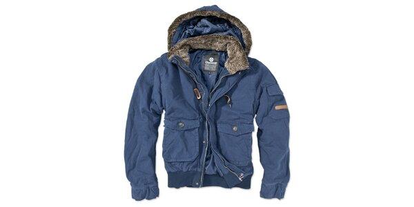 Pánska modrá bunda s kapucňou Brunotti
