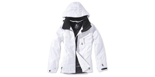 Dámska biela zimná bunda s kapucňou Brunotti