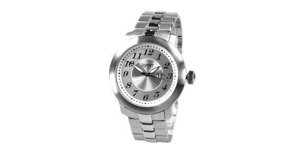 Pánske oceľové analógové hodinky s dátumovkou Esprit
