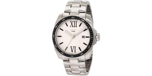 Pánske strieborné hodinky rímskymi číslicami Esprit