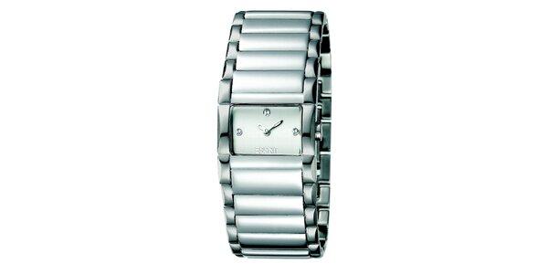 Dámske strieborné hodinky s minimalistickým ciferníkom Esprit
