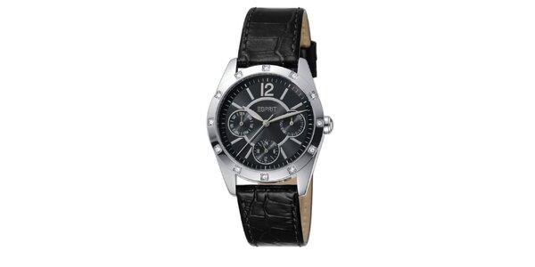 Dámske analógové hodinky osadené kamienkami Esprit