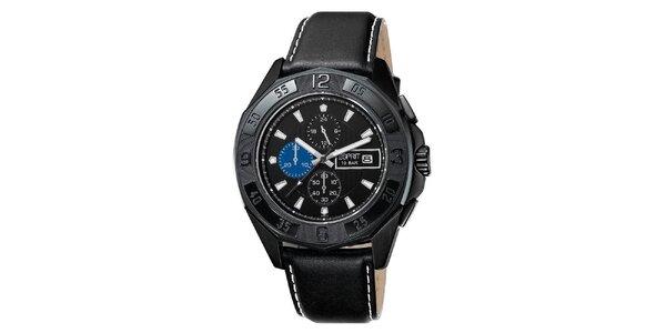Pánske čierne analógové hodinky s chronografom Esprit