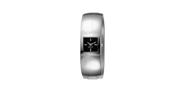 Dámske strieborno tónované hodinky s reliéfom Esprit