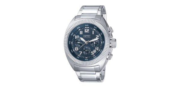 Pánske oceľové hodinky s modrým ciferníkom Esprit