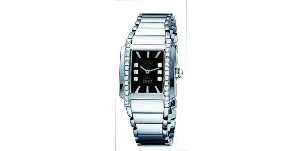 Dámske oceľové hodinky v striebornej farbe Esprit