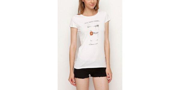 Dámske biele tričko pre bloggerky Dogo