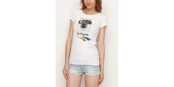 Dámske biele tričko s Instagramom Dogo