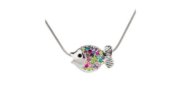 Dámsky náhrdelník s farebnou rybičkou Fifi Ange
