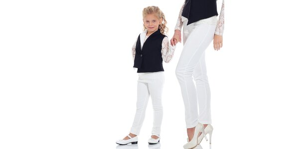Dievčenská čierna vestička Berry Couture