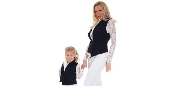 Dámska čierna asymetrická vesta Berry Couture