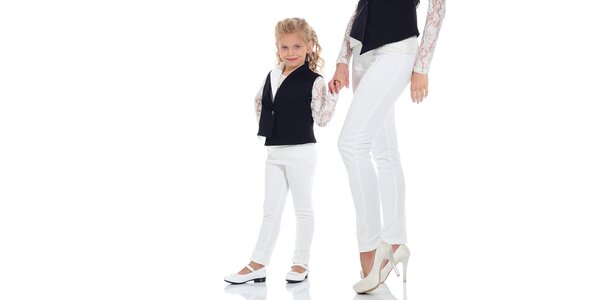 Dievčenské biele legíny Berry Couture