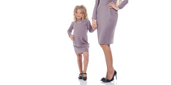 Dievčenské fialové šaty Berry Couture