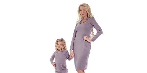 Dámske fialové šaty Berry Couture