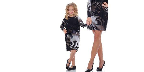 Dievčenské vzorované šaty so stuhou Berry Couture