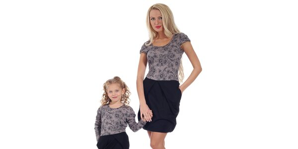 Dámske šaty s fialovým kvetinovým vrškom Berry Couture