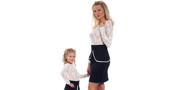 Dámska čierna peplum sukňa Berry Couture