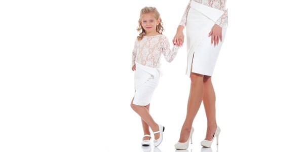 Dievčenská biela sukňa Berry Couture