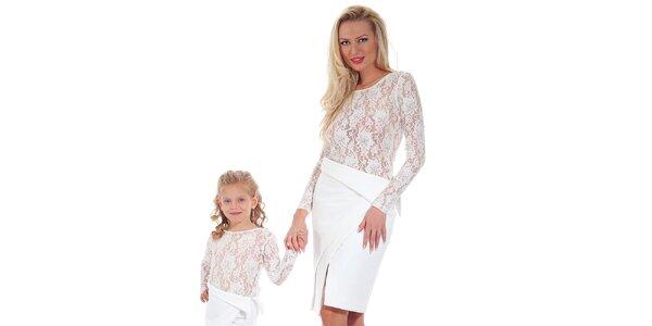 Dámska biela púzdrová asymetrická sukňa Berry Couture