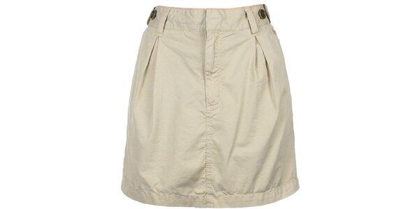 Dámska krátka krémová sukňa Bench