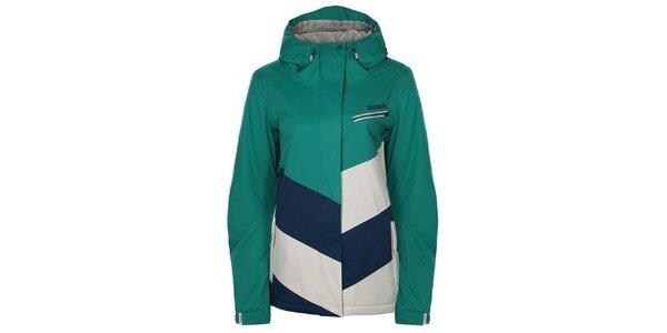 Dámska zeleno-modro-biela snowboardová bunda Bench