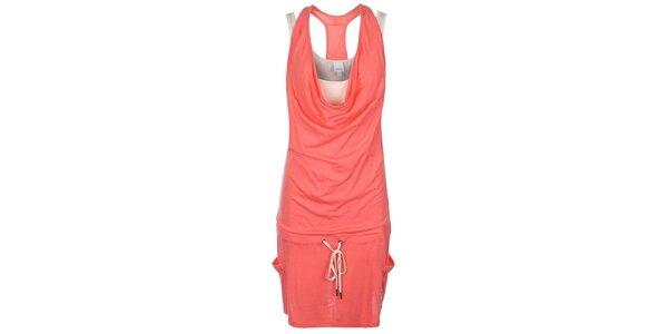 Dámske lososové šaty s tielkom Bench