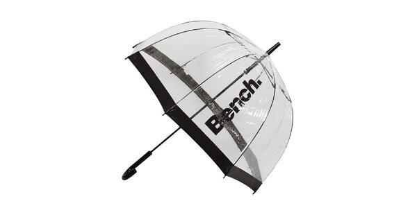 Transparentný dáždnik s tmavými lemami Bench