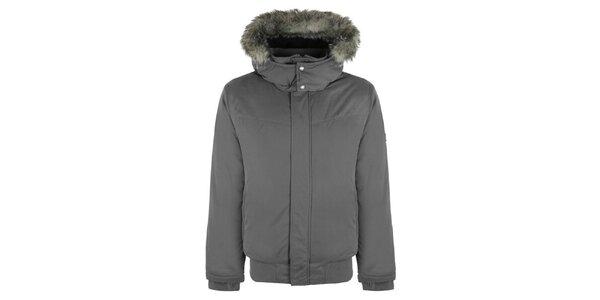 Pánska tmavo šedá zimná bunda Bench