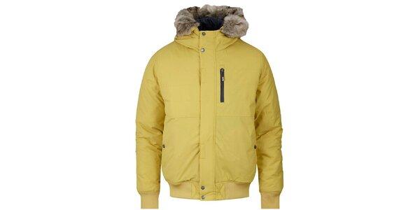 Pánska žltá zimná bunda Bench