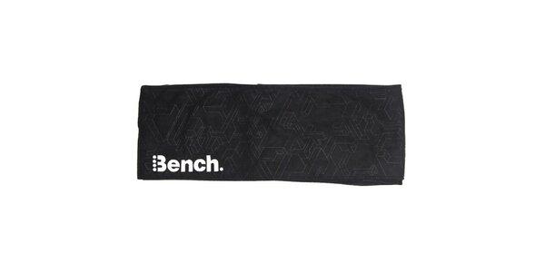 Čierný fleecový šál Bench