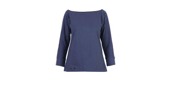 Dámske modré tričko Yuliya Babich s lodičkovým výstrihom