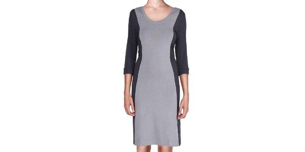 Dámske šedo-čierne šaty Yuliya Babich