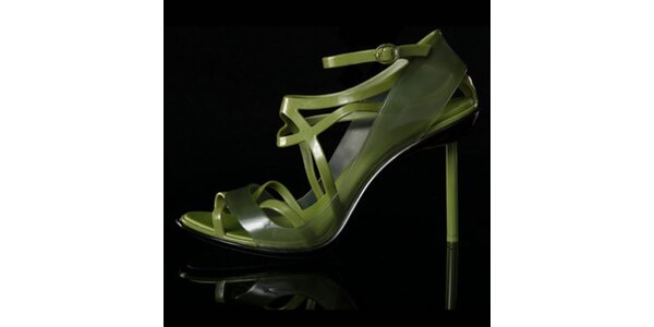 Dámske zelené sandálky Melissa + Jean Paul Gaultier