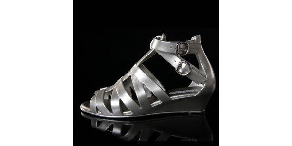Dámske strieborné sandálky Melissa