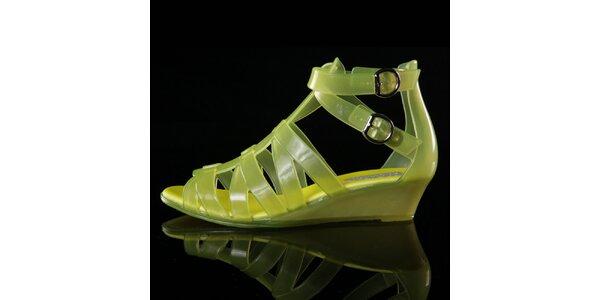 Dámske žlté sandálky Melissa