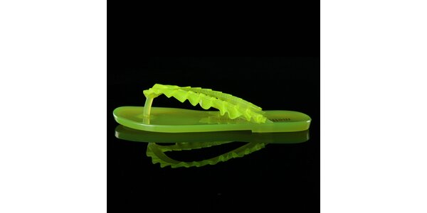 Dámske zelené žabky Melissa + Salinas