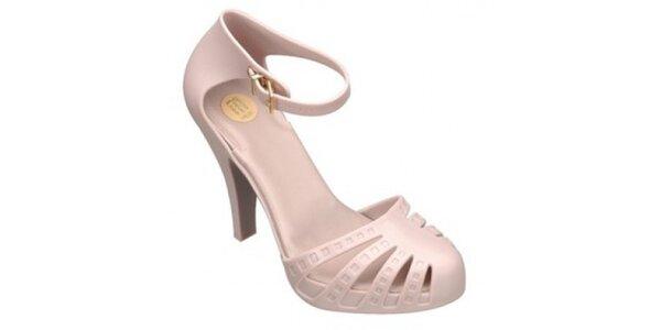 Dámske béžové topánky na opätku Melissa