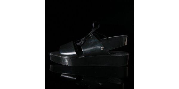 Dámske čierne sandále Melissa + Elisabeth De Senneville