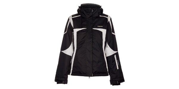 Dámska čierna lyžiarska bunda Envy s bielymi detailami