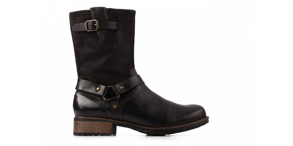 Dámske čierne kotníkové topánky Toscania