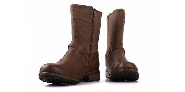 Dámske hnedé kotníkové topánky Toscania