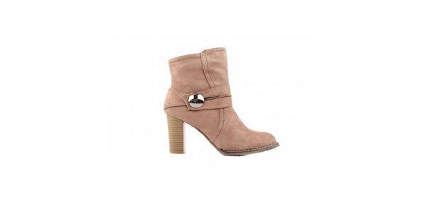 Dámske svetlo béžové topánky Toscania