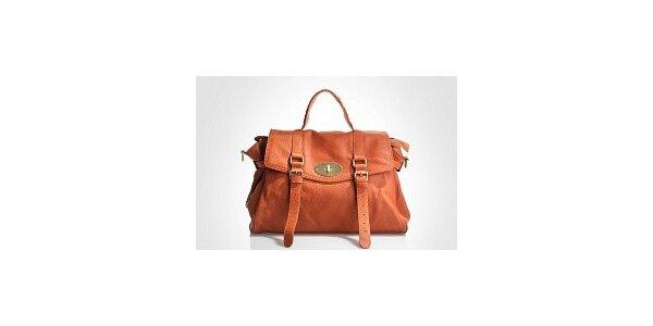 Dámska svetlo hnedá kabelka Belle & Bloom s ozdobnými pasikmi