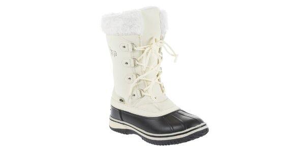 Dámske biele zimné čižmy Vertigo