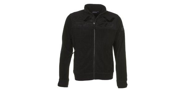 Pánska čierna fleecová bunda E2KO